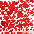 Stock Photo: White background with hearts