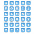 Swoosh Alphabet Icons — Stockfoto