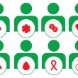 Stock Photo: Vector medical icons