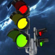 Traffic light isolated on white background — Stock Photo