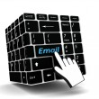 Keyboard email  key — Stock Photo