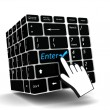 Stock Photo: Keyboard enter key