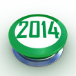 3d button 2014 green push technology press — Stock Photo