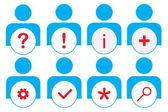 Icone web utente — Foto Stock