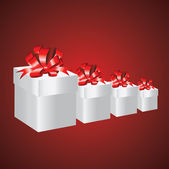 Gift red box — Stock Photo