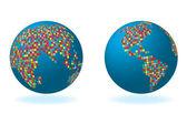 Globalny zestaw z serii mapę — Zdjęcie stockowe