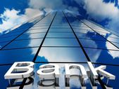 Bank building, 3D images — Stock Photo