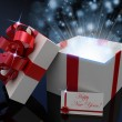 Gift open white box — Stock Photo