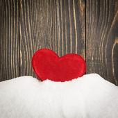 Corazón en la nieve — Foto de Stock