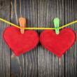 Red Heart with Clothespin — Stock Photo #39820681