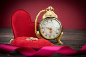 Vintage background with retro alarm clock — Foto Stock