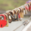 Stock Photo: Red Heart Lock Romance Love