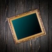 Frame on old wood background — Stock Photo