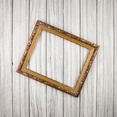 Frame on old wood background — Foto de Stock