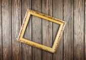Frame on old wood background — Стоковое фото