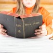The girl reads the Bible — Stock Photo #43793713
