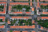 Aerial view over the private houses — Stock Photo