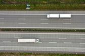 Vista aérea sobre el camino — Foto de Stock