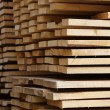 Edging board in stacks — Stock Photo