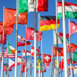 World flags background — Stok fotoğraf