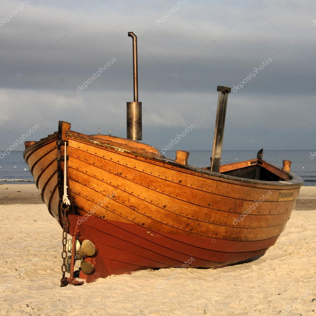 Old boat at the baltic sea stock photo marclschauer for What to do with an old boat