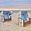 Beach chair at Baltic Sea — Stock Photo #35586833