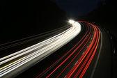 German highway at night — Stock Photo