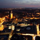 Vista da cidade de leipzig — Fotografia Stock