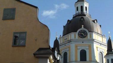 Katarina église à stockholm en suède — Vidéo