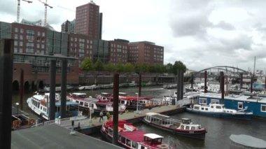 Puerto de hamburgo — Vídeo de stock