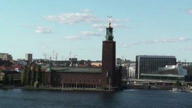 Stockholm şehir merkezi gamla stan — Stok video