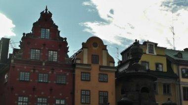Bâtiments du centre de stockholm dans gamla stan 2012 — Vidéo