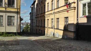 Szwecja sztokholm ulica fotografii wideo — Wideo stockowe