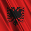 Royalty-Free Stock Vector Image: Albanian flag waving