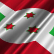 Burundi flag waving — Stock Video