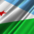 Djibouti Flag waving - Stock Photo