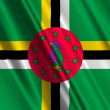 Dominica Flag waving - Stock Photo