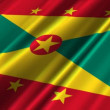 Grenada Flag waving — Stock Video
