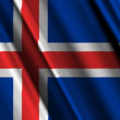 Iceland Flag waving — Stok Video #14007384