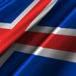 Iceland Flag waving — Stok Video #14007394