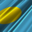 Palau Flag — Stock Video