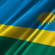 Rwanda Flag — Stock Video
