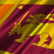 Sri Lanka Flag — Vídeo de stock
