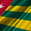 Togo Flag — Stock Video