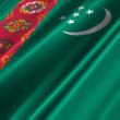 Turkmenistan Flag — Stock Video
