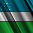 Uzbekistan Flag — Stock Video