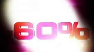 60 Percent OFF — Stock Video