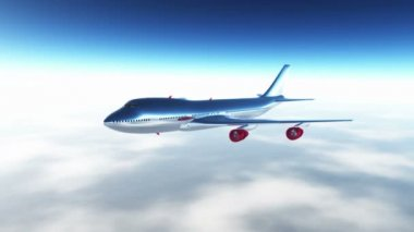 Airplane Flying 3D render — 图库视频影像