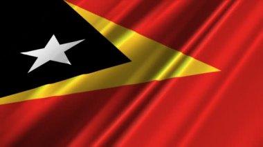 East Timor Flag waving — Stock Video