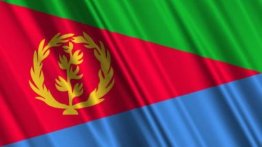 Eritrea Flag waving — Stock Video